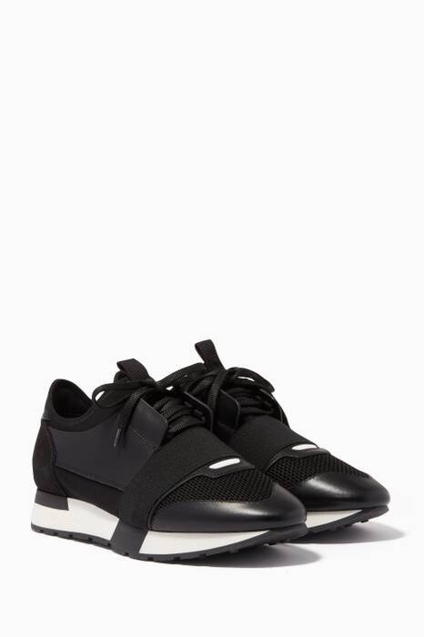 Noir Race Runner Low-Top Sneakers