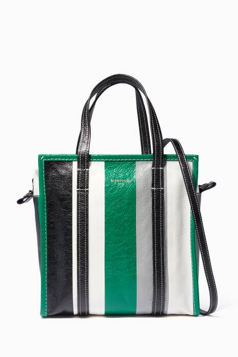 Green Striped Arena Bazar Shopper Bag