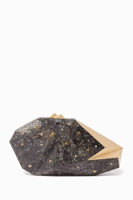 Black Polygonia Star Clutch