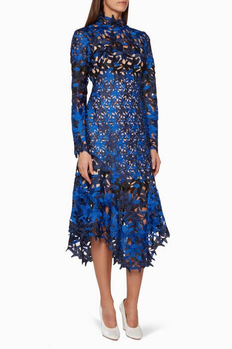 Ultramarine-Blue Davis Lace Dress