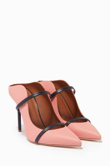 Pink Classic Point Toe Maureen Mules