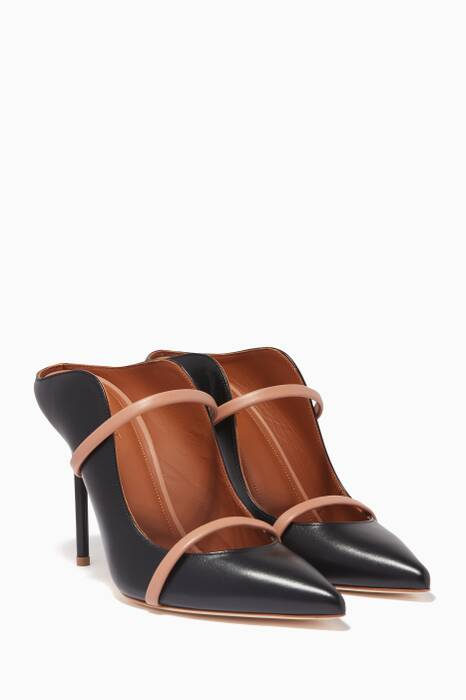 Black Maureen Leather Mules