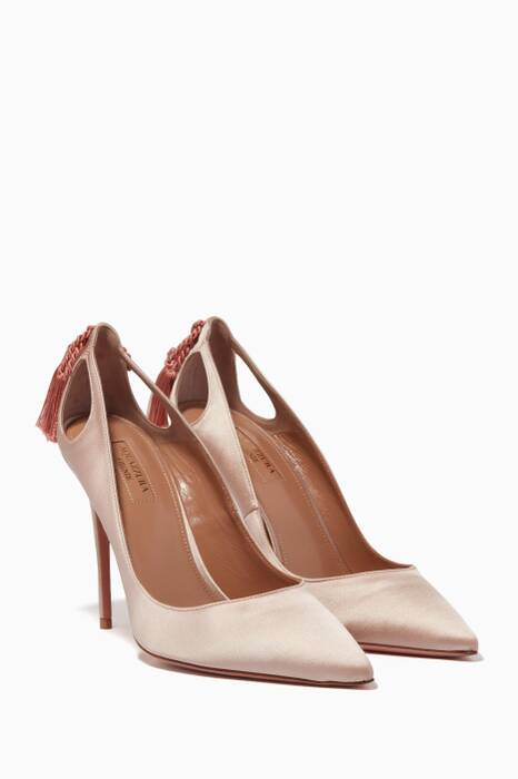 Powder Pink Satin Forever Marilyn Pumps