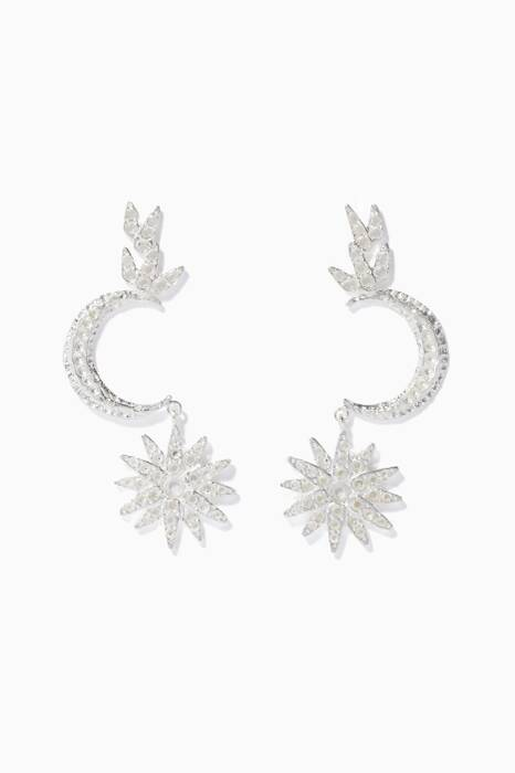 Silver Atria Earrings