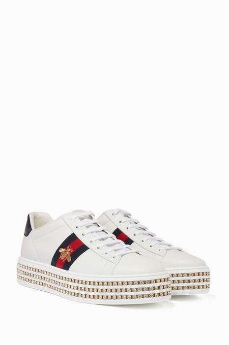 White New Ace Platform Sneakers