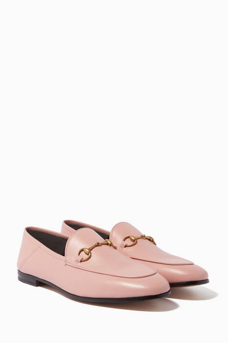 Light-Pink Brixton Leather Loafers