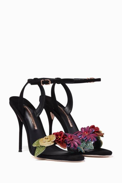 Black Crystal Lilico Sandals