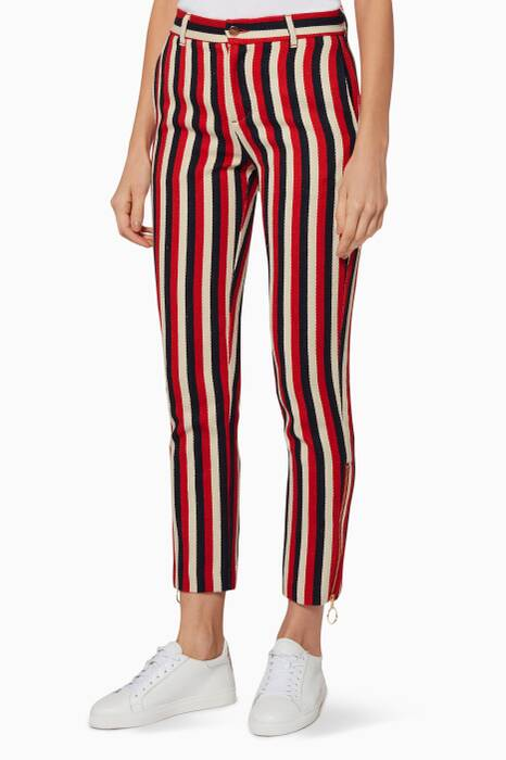 Red & Navy Striped Head In The Clouds Pants