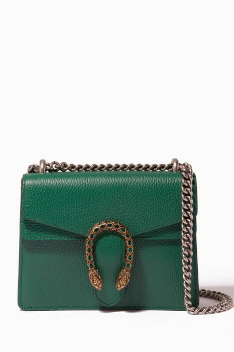 Green Mini Dionysus Leather Shoulder Bag