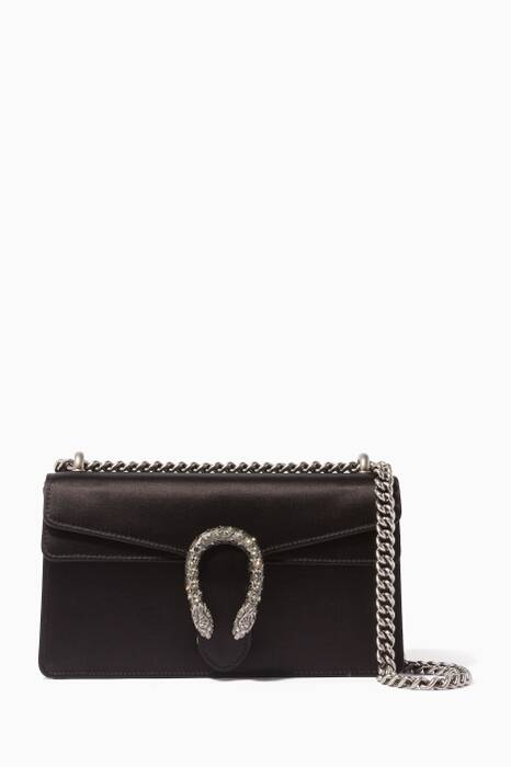 Black Small Dionysus Satin Shoulder Bag