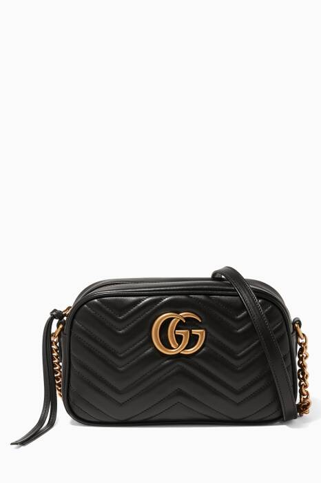 Black Mini GG Marmont Matelassé Camera Bag