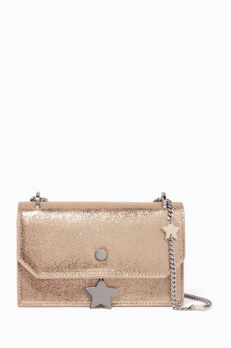 9e51ee5764041 Metallic-Gold Serena Glitter Leather Shoulder Bag Metallic-Gold Serena  Glitter Leather Shoulder Bag. Jimmy Choo