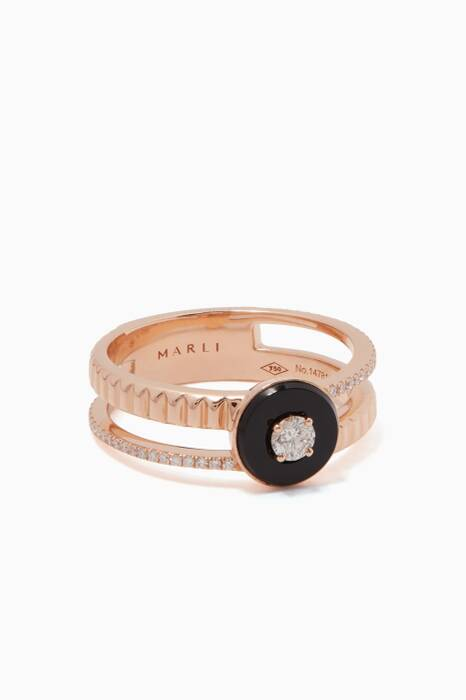 Rose-Gold & Diamond Coco Ring