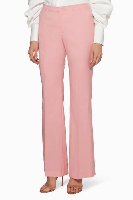 Pink Flared Zip Pants