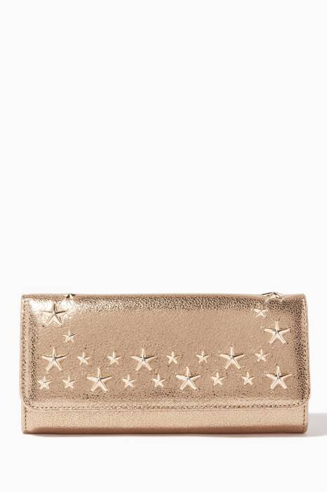 Gold Nino Star Studded Continental Wallet