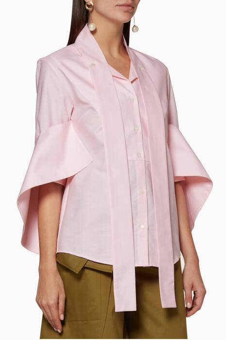 Pastel-Pink Pussy-Bow Shirt