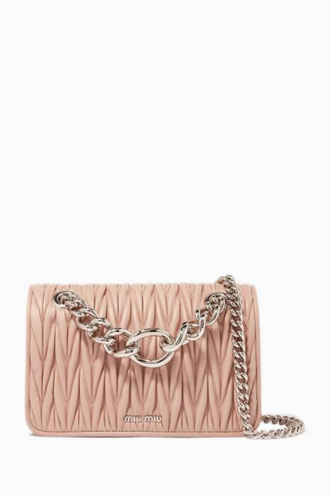 Blush Medium Club Chain Shoulder Bag