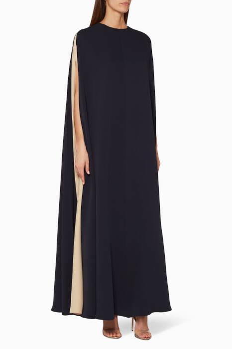 Navy Cape Gown