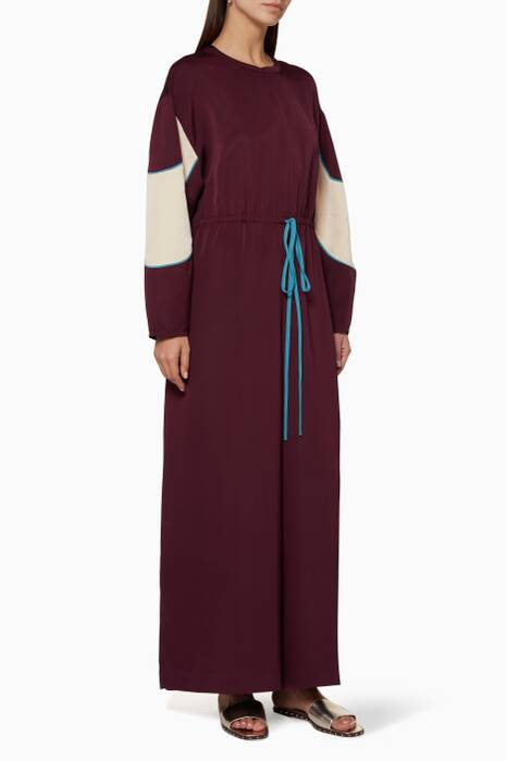 Burgundy Panel Jumpsuit