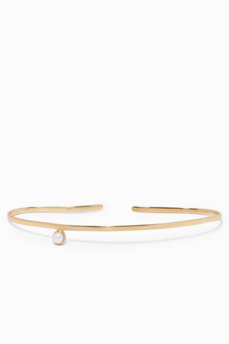 Gold & Pearl Palm Hand Cuff