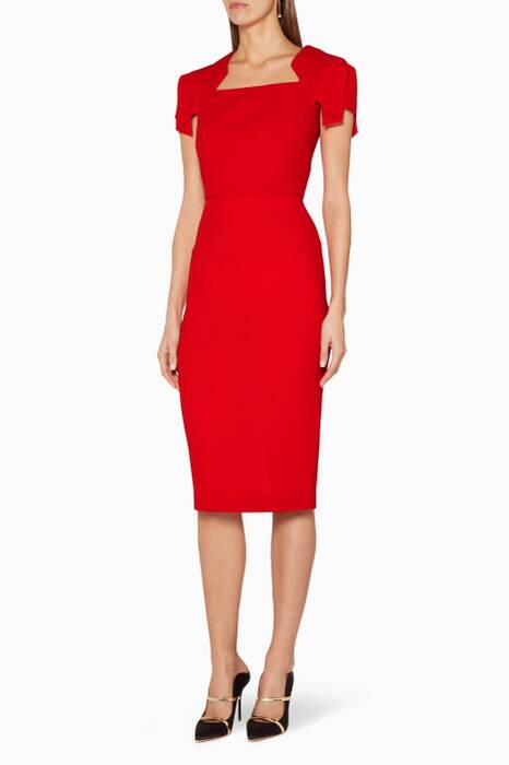 Red Wool Royston Dress
