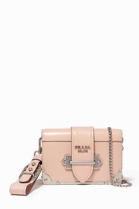 Pink Mini Cahier Chain & Wristlet Shoulder Bag