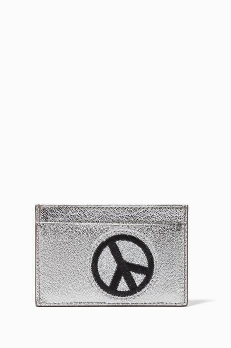 Silver Leather Patches Cardholder