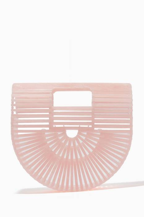 Light-Pink Mini Acrylic Arc Bag