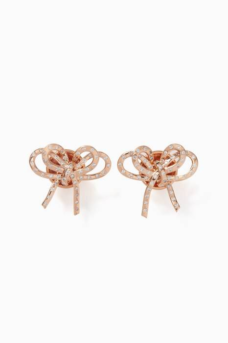 Rose-Gold & Diamond Romance Stud Earrings