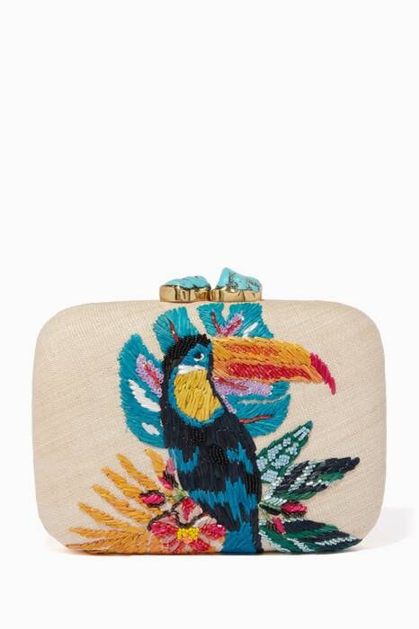 Multi-Coloured Toco Clutch