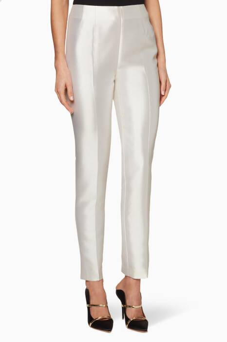 White Silk Masto Pants