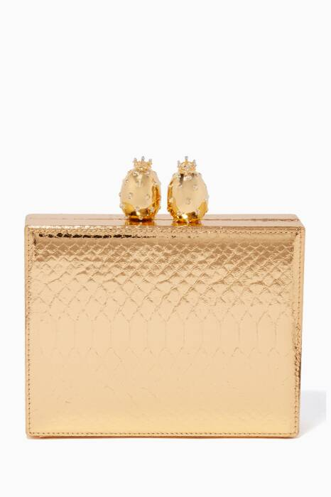 Gold Olivia Square Clutch