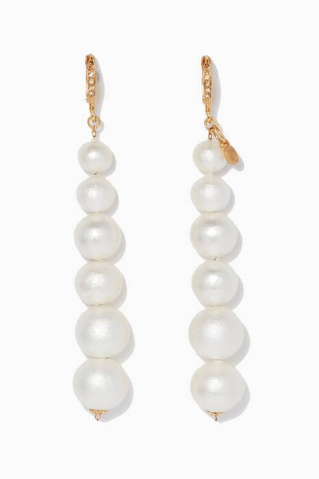 White Cascade Earrings