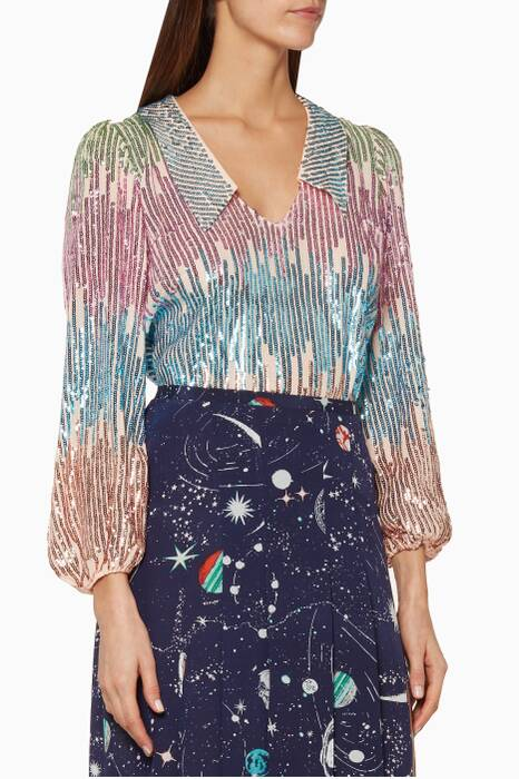 Multi-Coloured Lyla Sequined Top