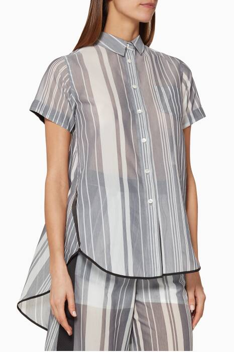 Grey Random Stripe Shirt