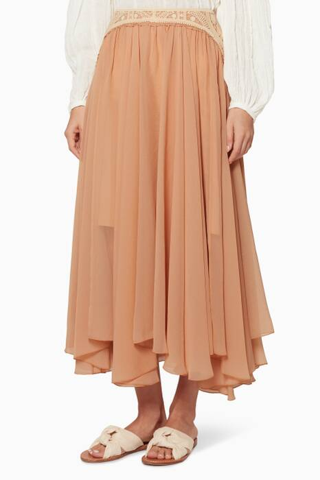 Light-Pink Crep Skirt