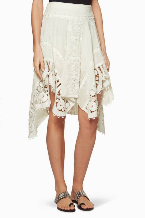 White Cheesecloth Skirt