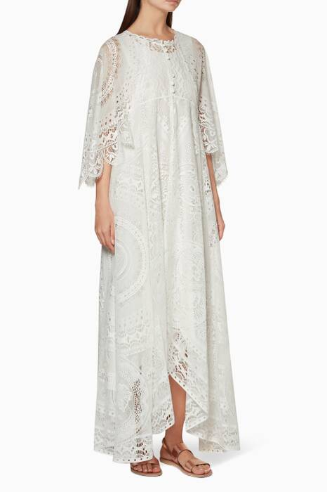 White Tabecloth Lace Dress