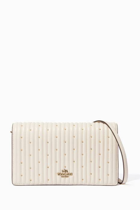 White Quilted Cross-Body Clutch