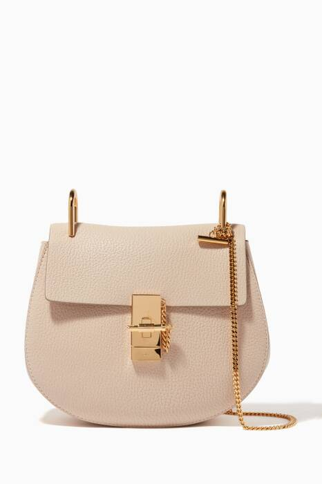 Abstract White Small Drew Shoulder Bag