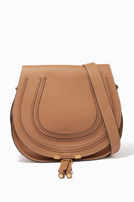 Brown Medium Leather Marcie Bag