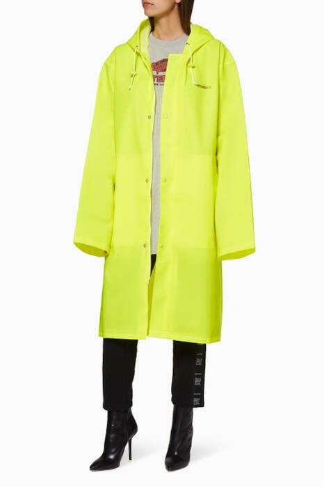 Neon-Yellow Logo Raincoat
