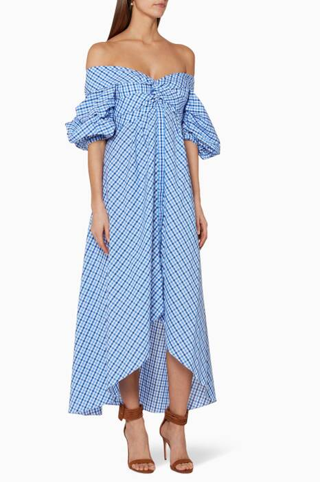 Pastel-Blue Plaid Sierra Madre Dress