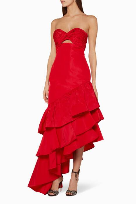Chili-Red Spicy Margarita Dress