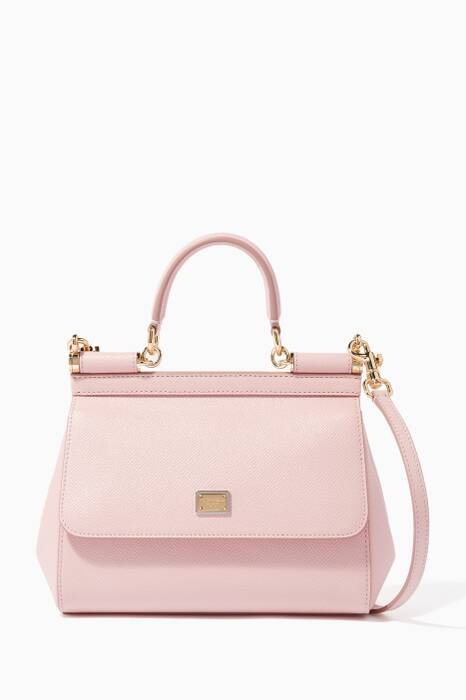 Light-Pink Small Dauphine Leather Miss Sicily Bag