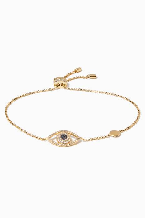 Yellow Silver Lucky Eye Bracelet