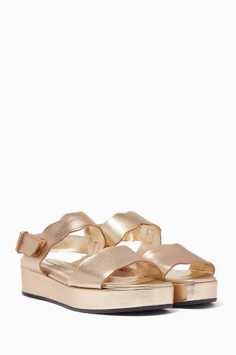 Metallic Gold Winnie Flatforms