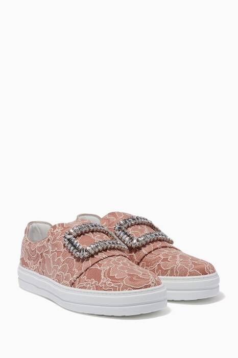 Light-Pink Sneaky Viv Slip-On Lace Sneakers