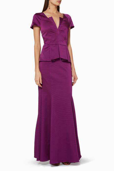 Purple Rosa Gown