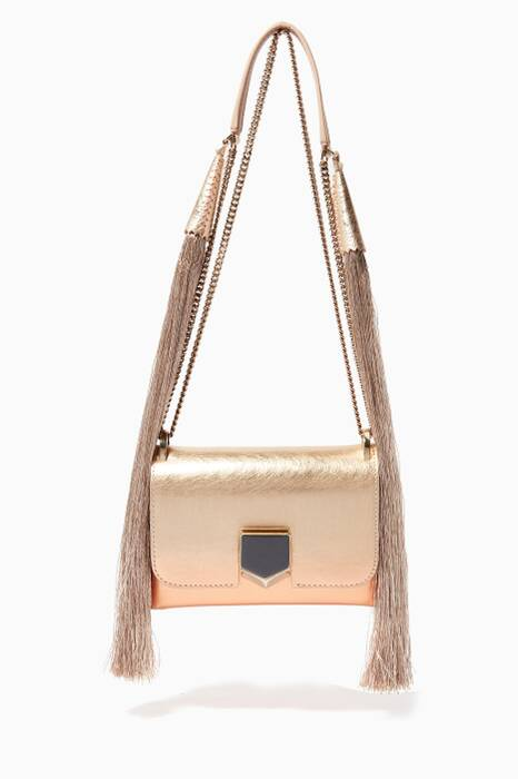 Metallic-Gold Lockett Mini Etched Shoulder Bag
